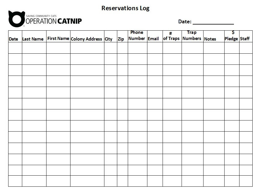 Discover free form templates and wordpress plugins that can help you build booking forms to grow your customer base and business. Reservation Log Templates 10 Free Printable Word Excel Samples Formats Examples