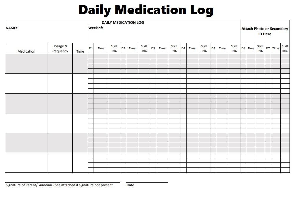 Medication Log Templates   8+ Free Printable & Editable MS ...