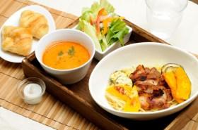 期間限定のイタリアンつけ麺(パンバージョン)