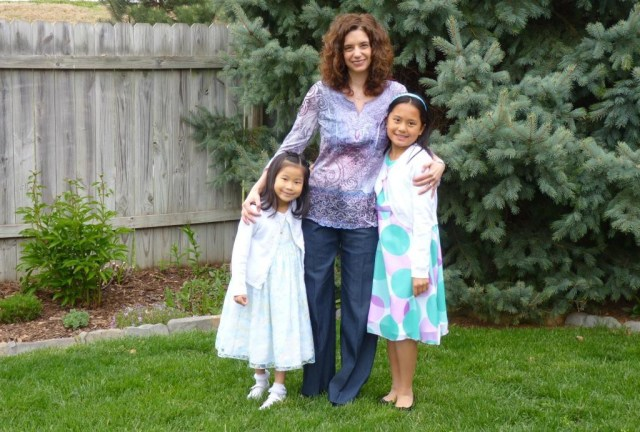 Lois and girls on Easter