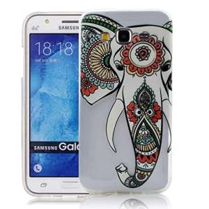 Silicone Soft Coque pour Samsung Galaxy J3 2016 Etui Case Cover, Vandot Art Design Motif Coque Elephant nez Style TPU Silicone Doux TPU Case [Anti chute & rayure] Etui Housse Series Couverture