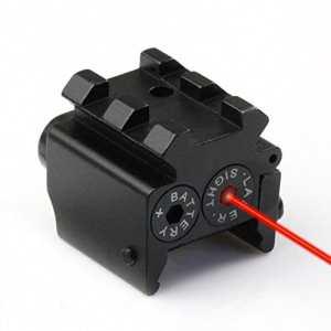 TUOFENG Pistolet tactique Red Dot Laser Sight Portée rail Weaver / Picatinny Rail Mount 20mm pour pistolet, pistolet à air