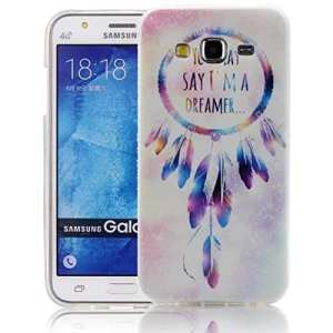 Vandot Etui Couvertrue pour Samsung Galaxy J3 2016 Coque Transparent Housse en silicone TPU Cover Case pour Samsung Galaxy J3 2016 Etui Ultra Slim TPU Shell – Motif Tassel Dreamcatcher