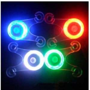 Bheema Bike Bicycle Cushion Soft Silicone Spoke Light LED Taillight 4 Colors