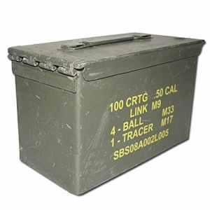 CAISSE BOITE A MUNITIONS US ARMY EN METAL VERT KAKI MILTEC 91592600 MATERIEL OCCASION MILITAIRE ARMEE AMERICAINE