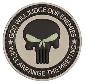 Dieu sera Judge Punisher tactique Moral Patch en caoutchouc avec crochet velcro® Marque à l'arrière.