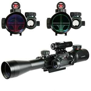 Spike Lunettes de visée 3-9X40EG Illuminated Chasse Rouge / Vert Riflescope laser holographique avec Dot Sight Combo Airsoft viseur d'arme Airsoft