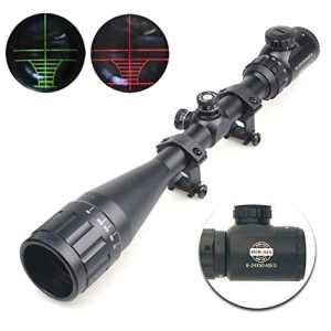 Spike® Tactique 6-24x50AOE rouge & vert allumé réticule pistolet optique, lunette de chasse Brand change to:Spike