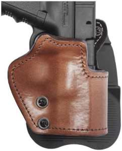 Front Line LKC94P-BR Open Top Paddle Holster, Brown, Right by Mako Defense