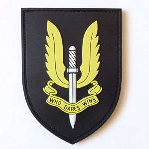 SAS British Special Air Service SFG UK Call of Duty COD PVC 3D Gomme Touch Fastener Écusson Patch