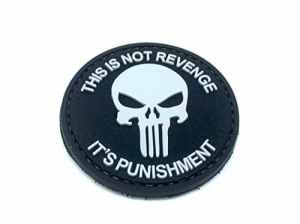 This Is Not Revenge Punisher Noir PVC Airsoft Patch
