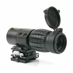 Funtalker tactique 3 x Magnifier Scope Sight avec flip à côté 20 mm Rail Mount Scopes