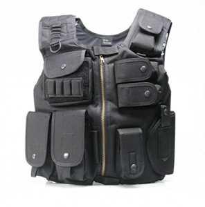 Dmoniac – Accessoire Airsoft – Veste Tactique Swat – Noire Dmoniac