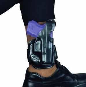 Desantis Leather Ankle Rig Holster fits S&W J 332, 340, 342, 432Pd, 442, 640, Left Hand, Black by DeSantis