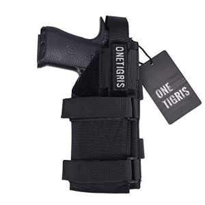 OneTigris L'étui à Pistolet Holster Glock Tactique Avec MOLLE en 1000D Nylon Pour Airsoft (Noir)