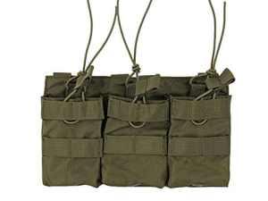 PORTE CHARGEUR 3 POCHES POUR CHARGEURS M4 / M16 / AK / FAMAS / SIG VERT 8 FILEDS M51613110-OD ACCESSOIRE GILET TACTIQUE AIRSOFT