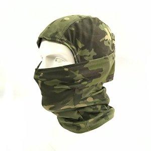 WorldShopping4U Ninja Hood Kryptek Camoufler Cagoule Tactique Airsoft Extérieur Chasse Souple Complet Visage de Protection Masque (AllTerrainCamo) (WC)