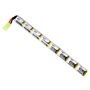 Keenstone Mini batterie NiMH bâton 9,6 V 1600 mAh + mini connecteur Tamiya Assemblés avec fil 16G pour fusil à air comprimé