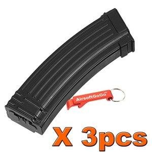 3pcs X CYMA AK 500rds Hi-Cap métal Chargeur for Airsoft Marui Std AK74 AK47 AK AEG Series Black [pour Airsoft uniquement]