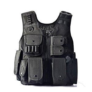yakeda® Veste tactique des équipes d'intervention, Fans de la SWAT Army, Veste de jeu plein air CS, Veste champ de bataille CS, Cosplay du jeu Counter Strike E88017