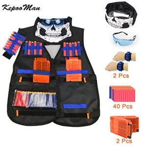 KepooMan Tactical Vest Kit pour Nerf Guns N-Strike Elite Series