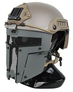 TMC Spartan Masque en maille métallique pour airsoft Paintball Milsim–Gris loup