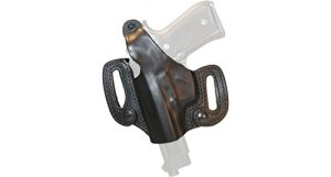 BLACKHAWK! Leather Detachable Slide Black Holster, Size 01, Left Hand, (Colt Govt /Comm LHnd Blk)