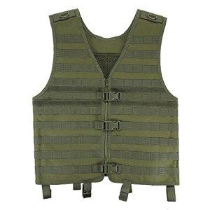 Lixada en plein air des hommes molle gilet modulaire de chasse Gear charge porteur avec poche d'hydratation, Vert militaire