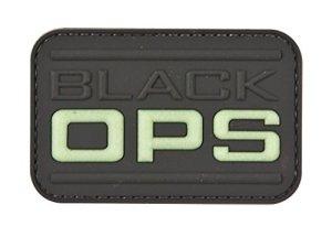 Noir op tactique en caoutchouc de Moral Patch avec Velcro® Marque Crochet au dos.
