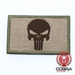 Punisher's Embroidery Tactical Army Badge Green Brown avec Hook & Loop
