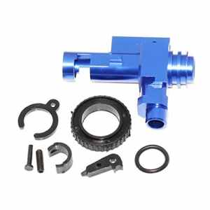 Airsoft Accessories 5KU CNC Aluminium Hop Up Chamber pour M-Series AEG Blue