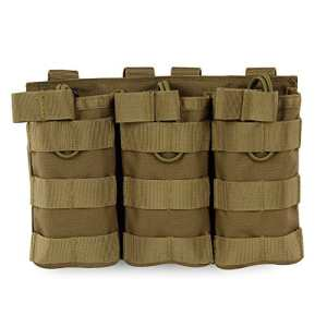 Airsoft Molle Vest Bag Sac Tactical Open Top Mag Pouch Triple / Double / Single Porte-revues pour AR M4 M16 HK416 Magazines