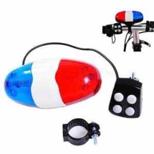 Bheema 6 LED avertissement anneau klaxon de vélo de la sécurité de la cloche de lumière avant 4 sonore