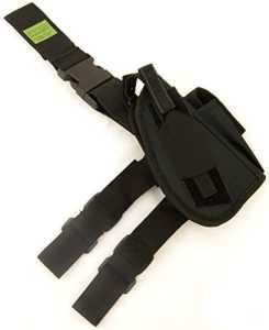 Oxbridge – Holster de cuisse tactique – style policier/GIGN- pour revolver/pistolet – noir