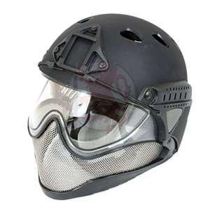 WARQ Advanced Full Face/Tête Casque Système de Protection pour Airsoft, Noir
