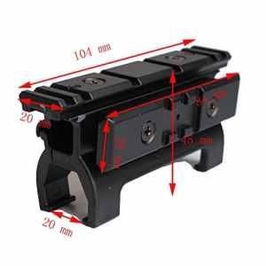 Picatinny Weaverer Rail 20mm Pleine Base de Montage de la Gamme de Montage en Métal pour Marui MP5 Accessoires de Chasse