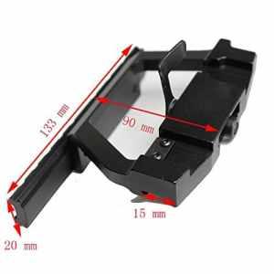 Rail Métallique pour 20mm Picatinny Ligne de Visée pour l'installation de Chasse AK47/AK74 Saiga Rifle Pistolet à air Montage sur Rail Latéral QD