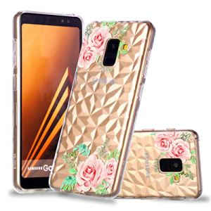 Galaxy A8 2018 Coque Transparente Souple,Samsung Galaxy A8 2018 Case Bumper Transparent en Silicone Ultra Slim Mince en Caoutchouc Coque (3)