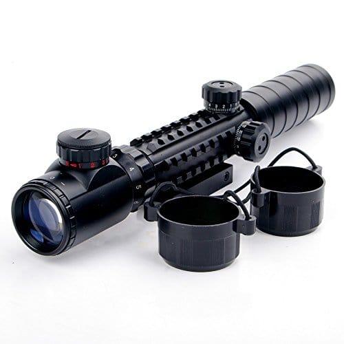 UniqueFire 3–9x 32eg Scopes Airsoft Rifle Scopes éclairé holographique 4réticule Rouge et vert Dot Sight