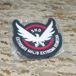 Cobra Tactical Solutions The Division SHD Extremis Malis Extrema Remedia Patch PVC sa lanière Hook & Loop Airsoft Paintball A Sac à Dos Tactique Vêtements