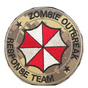 Cobra Tactical Solutions Camo Patch Resident Evil Zombie Outbreak * Response Team Écusson Brodé sa lanière Hook & Loop Airsoft Paintball A Sac à Dos Tactique Vêtements | Motif Camouflage numérique