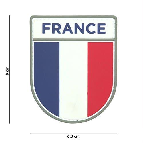 Patch 3D PVC Bouclier Armée Française / Cosplay / Airsoft / Camouflage