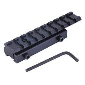 CHANNIKO-FR 1 Set 11mm à 20mm Queue d'aronde Weaver Picatinny Rail Mount Adaptateur Convertisseur Base Portée