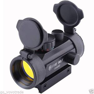 Jpstyle Support holographique 1X40mm Airsoft Rouge Vert Dot Sight Scope 11 et 20
