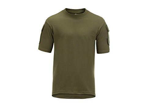 Invader Gear Tactical T-Shirt Green Od Army Style Sleeve Pocket Patch Panels