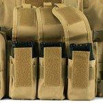 Gonex Gilet Tactique Militaire Gilet de Combat Veste Extérieure pour Airsoft Jeu CS Militaire Cosplay Kaki