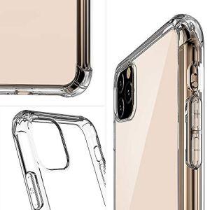 MENGZHEN Cas Clair de téléphone Ultra Mince Mince TPU Silicone Souple en Forme Cas de Couverture de Protection compatibles avec IPH 11 Pro Max