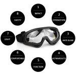 Aoutacc Airsoft Ensemble masque et lunettes, demi-masque en acier plein masque et lunettes pour CS / chasse / paintball / tir (masque noir)