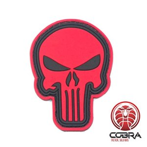 3D PVC Punisher's patch Red Medium with velcro
