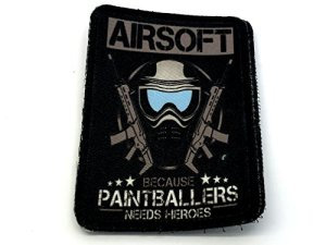 Airsoft Car Paintballers besoin héros Cosplay Sublimé Moral Patch